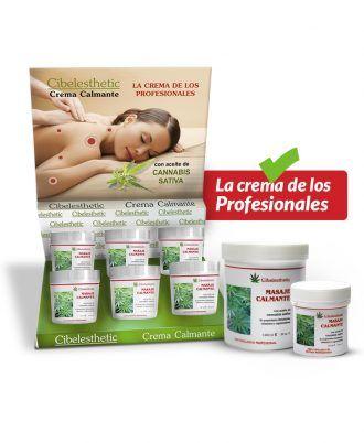 Crema Canabis para masaje corporal relajante
