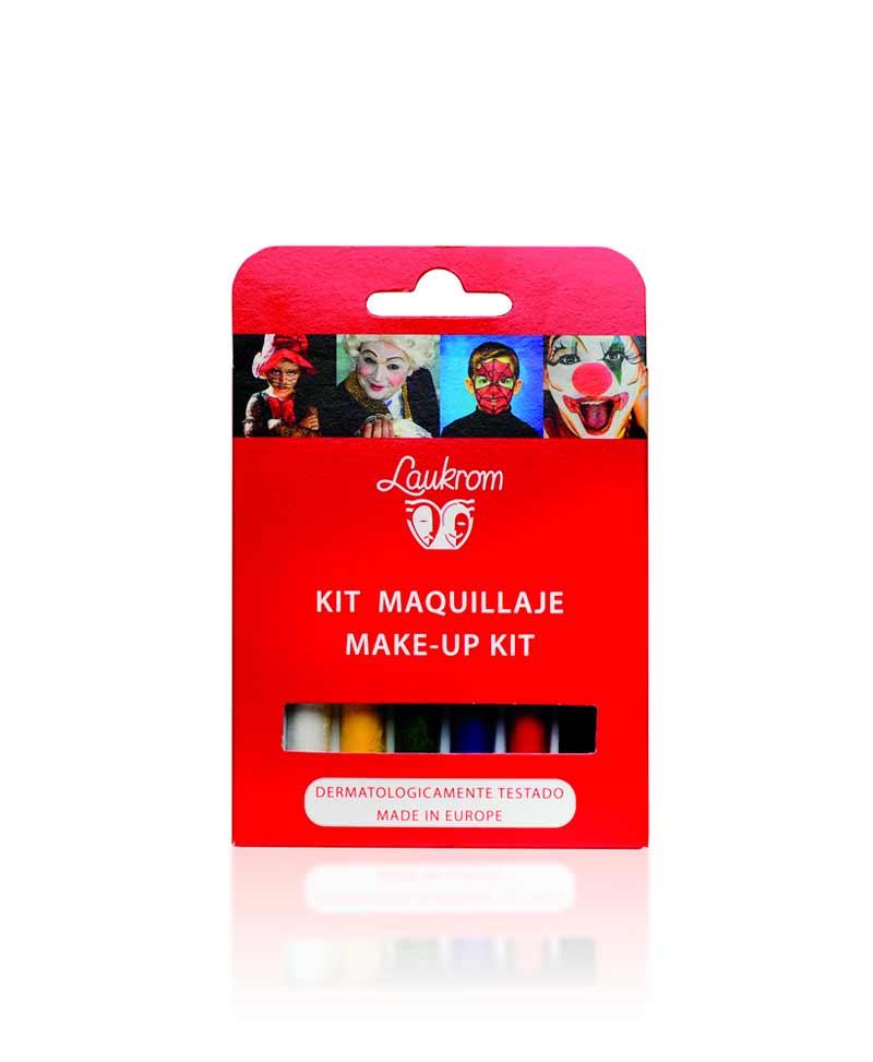 Kit de 6 barras de maquillaje de 4.5 g de colores básicos (blanco, amarillo, verde, azul, rojo y negro) para caracterizaciones de manera fácil.