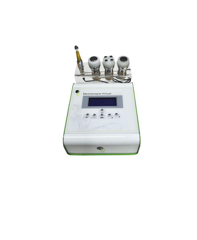 Tratamiento Mesoterapia Virtual: Equipo IR Messo Active es un equipo de mesoterapia virtual que utiliza la electroporación para penetración de sustancias activas, el equipo se compone de 4 aplicadores uno de electroporacion facial y otro corporal además de ultrasonidos de 1MHZ y energía led roja y un último manipulo de crioterapia con
