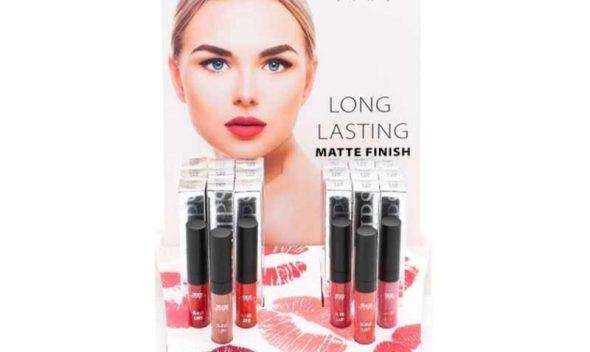 Nuevo Expositor Stage Line X-Fix Lips,Labial líquido de alta cobertura y resistencia. Una vez el producto se ha secado, el labio se mantiene perfectamente maquillado durante horas sin transferir color en copas, servilletas ...