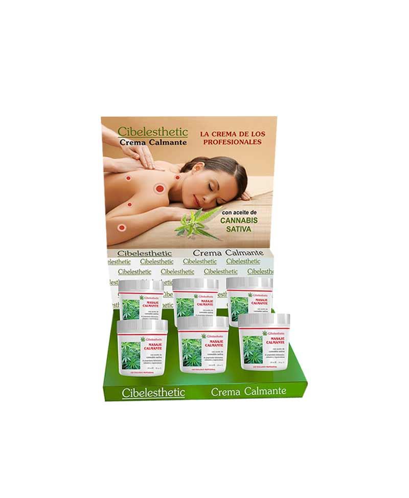 crema ideal para masajes, fisioterapias, con extracto de cannabis para efectos calmantes. Cibelesthetic, masaje calmante