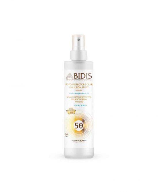 Fotoprotector solar emulsión en spray ABIDIS